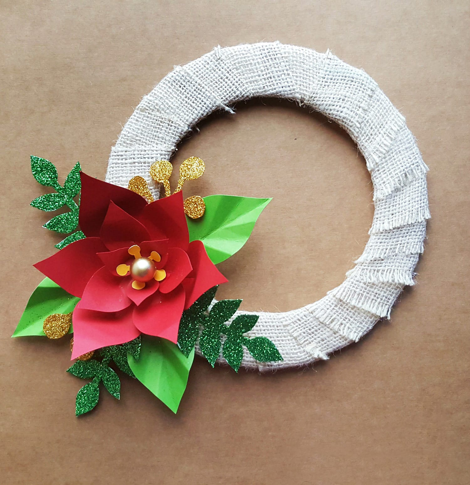 Easy Christmas Crafts For Kids Homemade Poinsettia Wreath